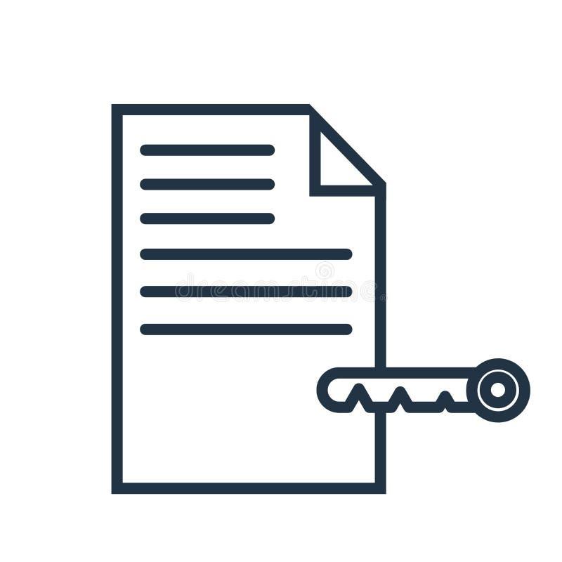 Keyword icon vector isolated on white background, Keyword sign royalty free illustration