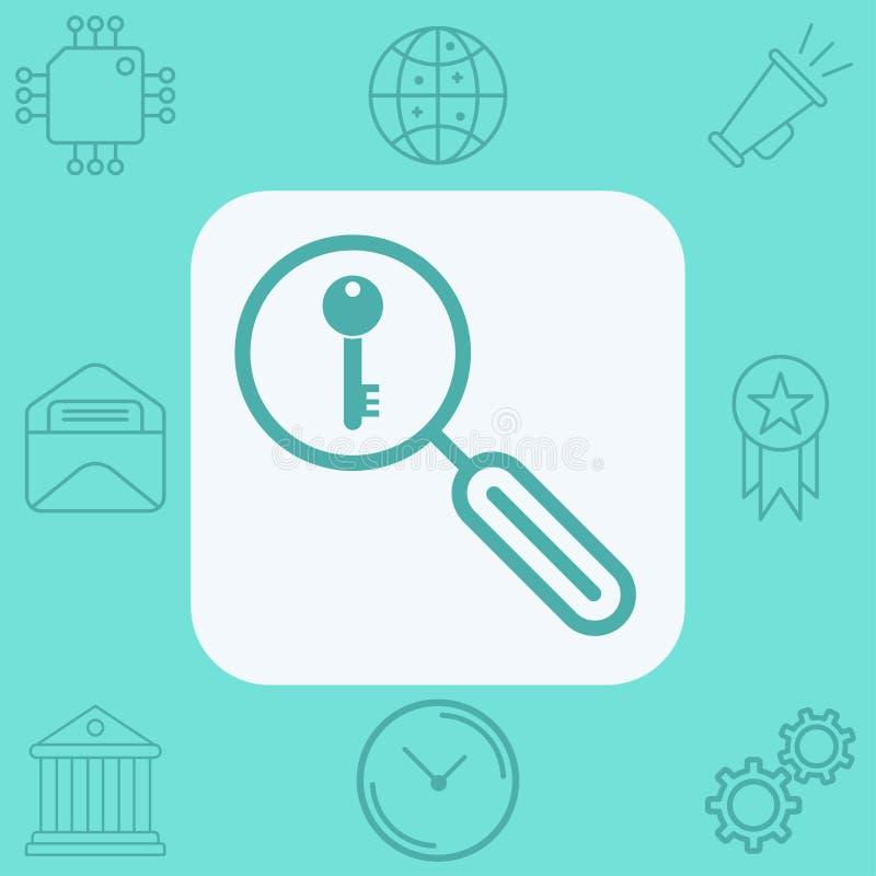 Keyword search vector icon sign symbol royalty free illustration