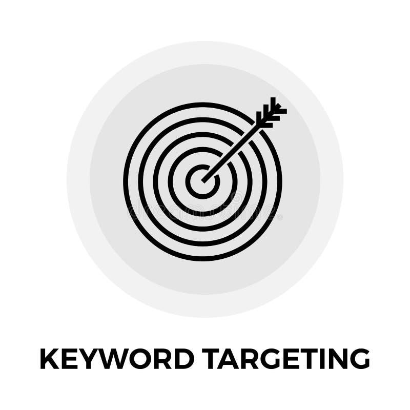 Keyword Targeting Line Icon royalty free illustration
