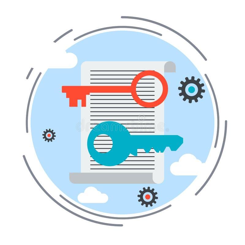 Keywordingshulpmiddelen, het vectorconcept van de Weboptimalisering stock illustratie