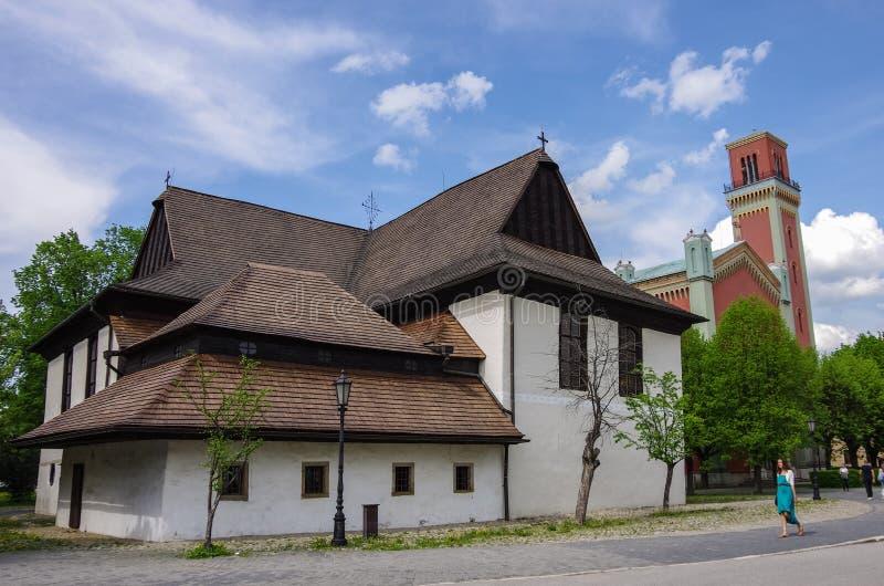 Kezmarok, Σλοβακία - 15 Μαΐου 2013: Προτεσταντική ξύλινη εκκλησία (ο Δρ στοκ εικόνα