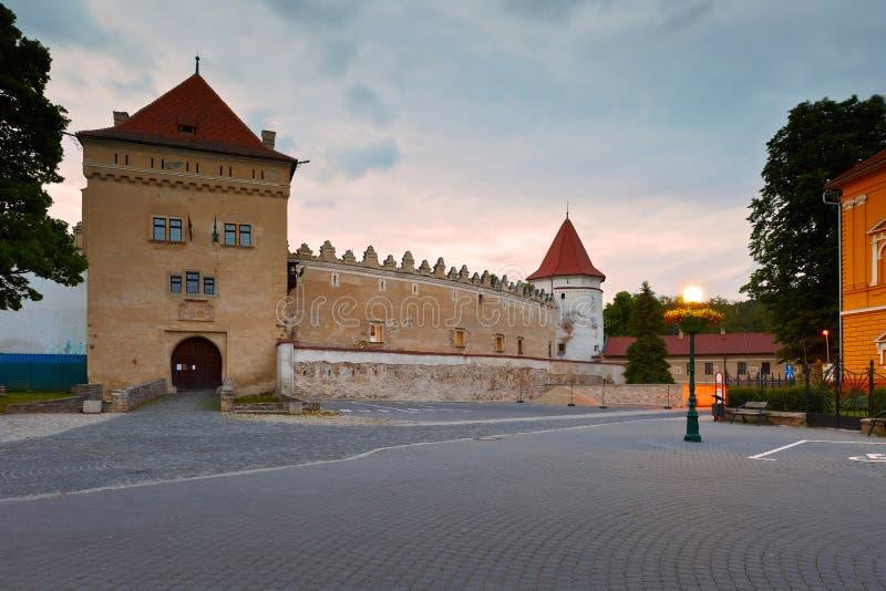 Kezmarok, Slovakia. Castle in the old town of Kezmarok, Slovakia stock photos