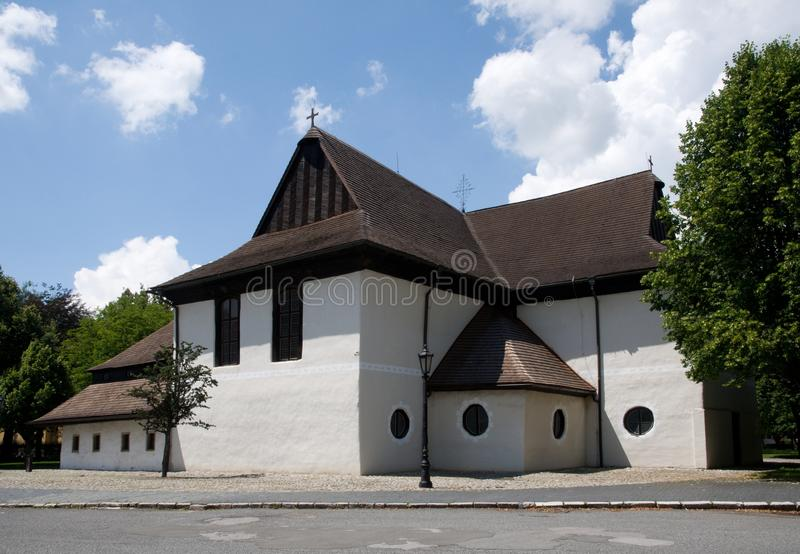 Kezmarok, Slovakia. Historic wooden church in town Kezmarok, northern Slovakia royalty free stock image