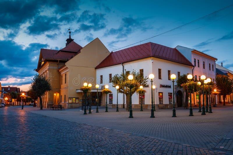 Kezmarok, Slovakia. September 10, 2019: Architecture in the main square of Kezmarok, eastern Slovakia royalty free stock photo