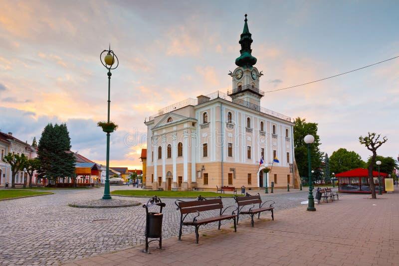 Kezmarok, Slovakia. Town hall and the main square in the town of Kezmarok, Slovakia royalty free stock photo