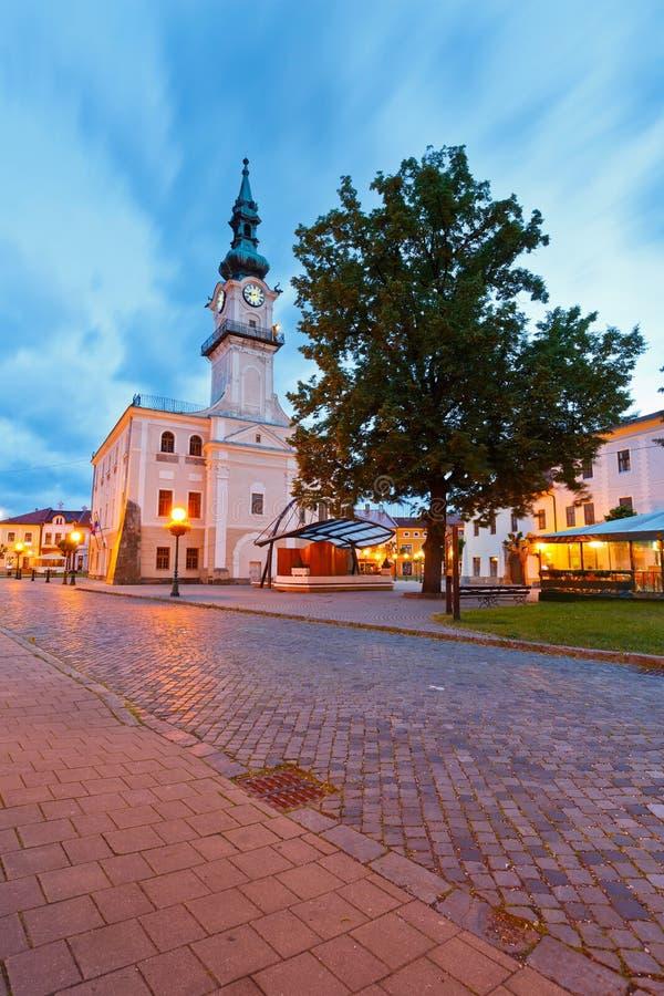 Kezmarok, Slovakia. Town hall and the main square in the town of Kezmarok, Slovakia royalty free stock photography
