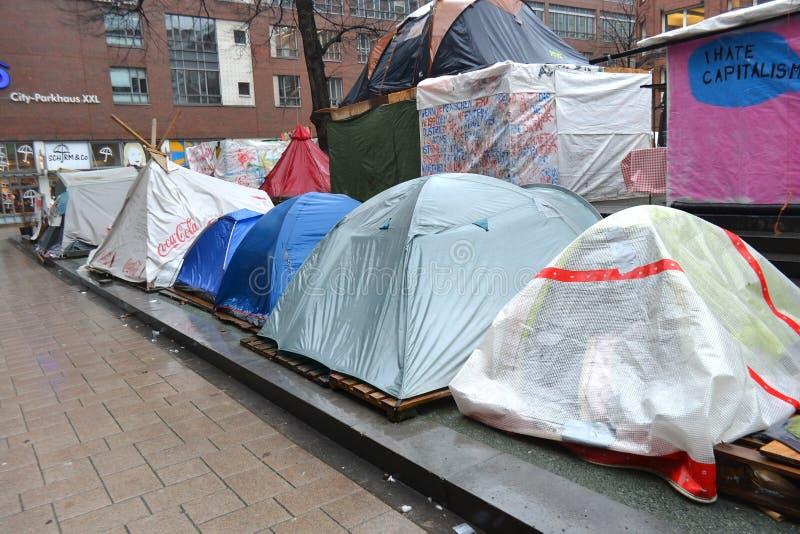 Καταλάβετε το στρατόπεδο του Αμβούργο στοκ φωτογραφίες με δικαίωμα ελεύθερης χρήσης