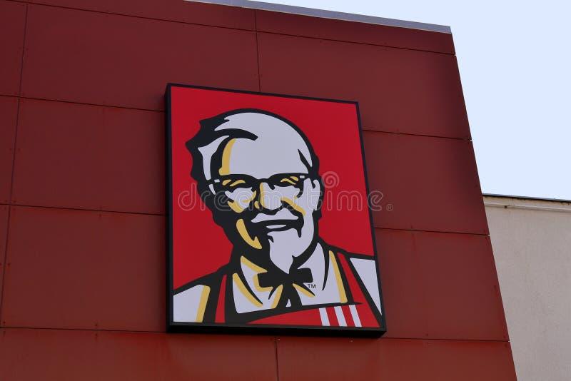 KFC fast food restaurant logo at its building royalty free stock photos