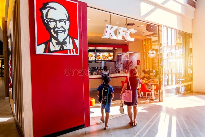 KFC Kentucky Fried Chicken shoppar royaltyfri foto