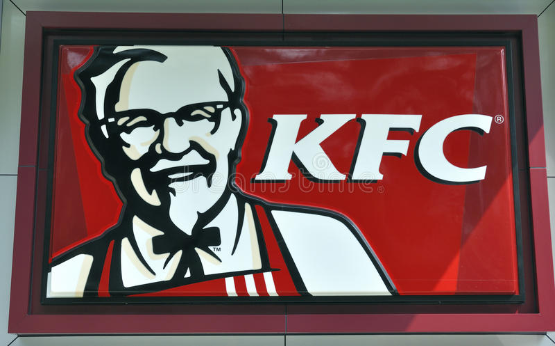 Kfc Logo: Kfc Logo Editorial Stock Image. Image Of Drinking, Ketchup