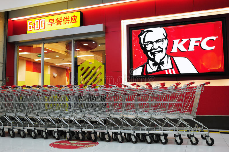 KFC And Shopping Trolley Editorial Image