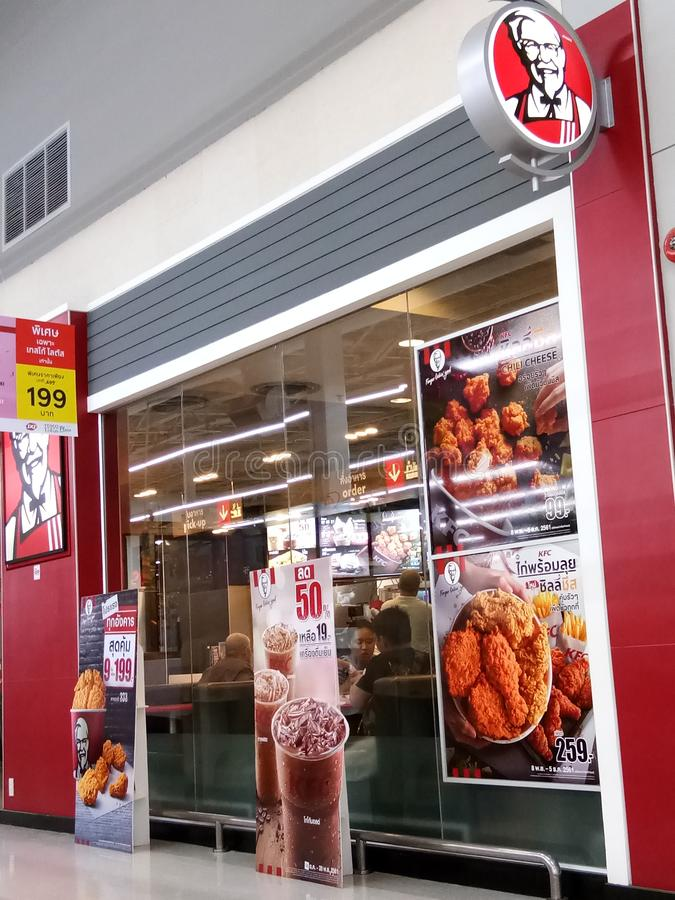 KFC storefront in Thailand royalty free stock photos