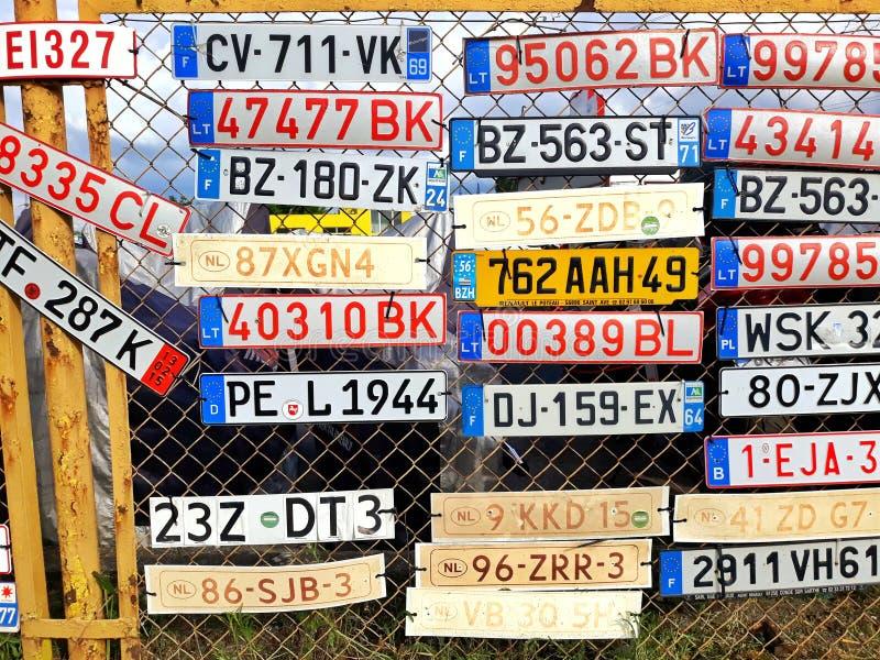Kfz-Kennzeichen lizenzfreies stockbild