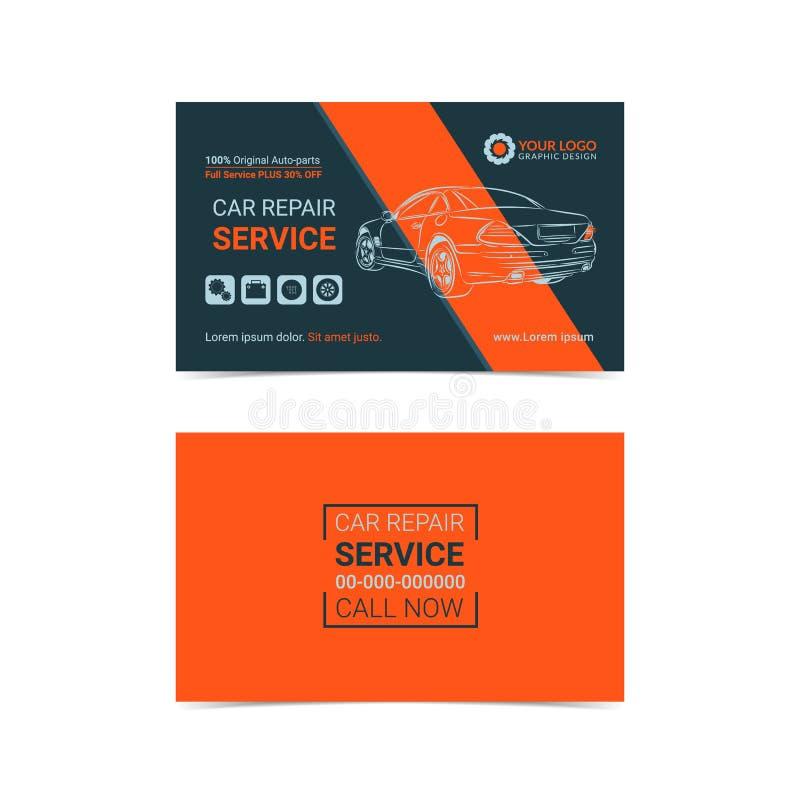 Automobildienstleistungsunternehmenkartenplanschablonen