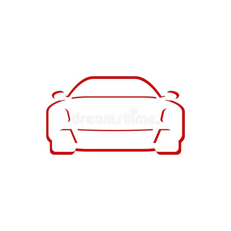 Kfz-Werkstatt-Sport-Auto-Vertragshändler-Logo lizenzfreie abbildung