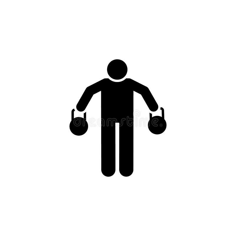 Kg, mężczyzna, sprawność fizyczna, szkolenie, bawi się ikonę Element gym piktogram Premii ilo?ci graficznego projekta ikona podpi ilustracji