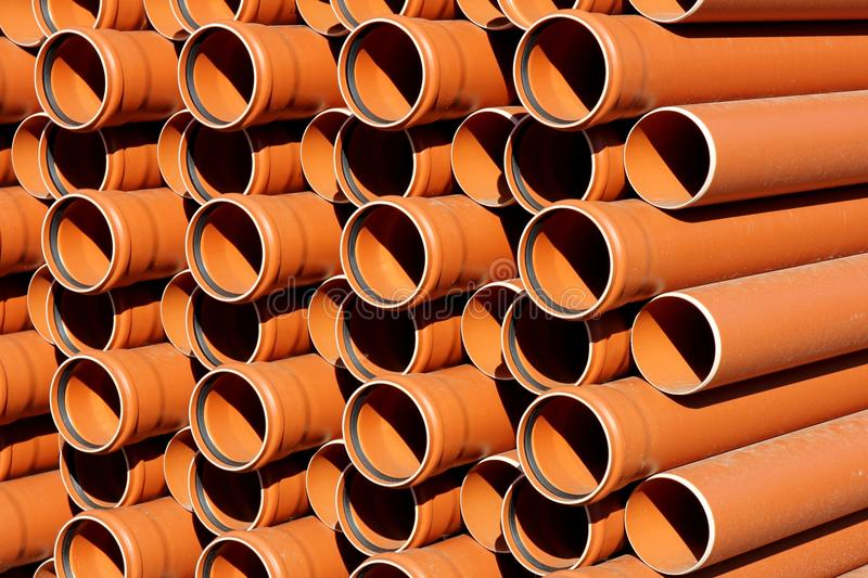 KG sewer pipes royalty free stock images