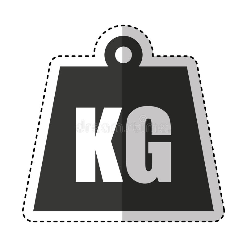 kg weight isolated icon stock illustration