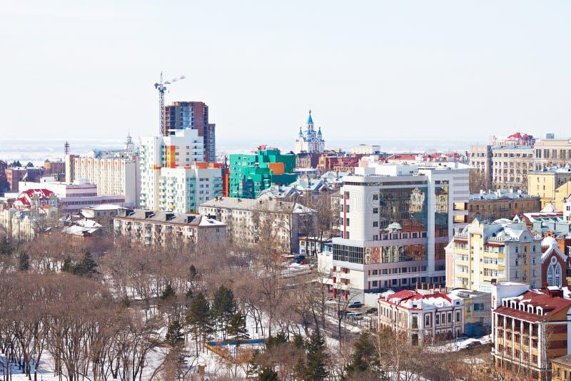 Khabarovsk, Russia. Cityscape stock photos