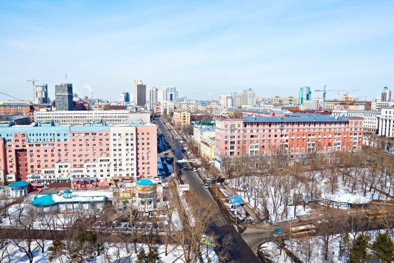 Khabarovsk, Russia. Cityscape stock photo