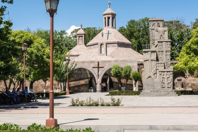 Khachkar medievale armeno fotografie stock