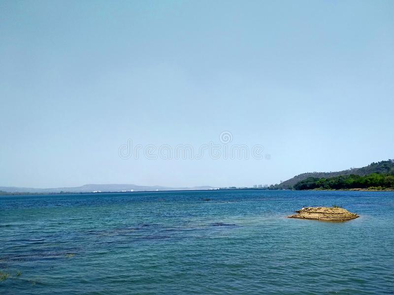 Khadakwasla Dam on a summer day royalty free stock photography
