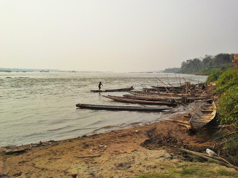 khaengkaboa mekong riverside thailand stock photo