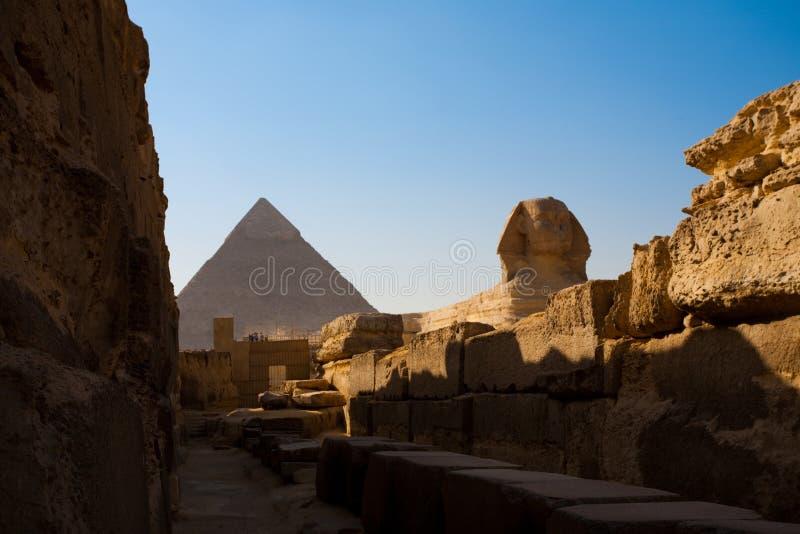 khafre διάβαση πεζών πυραμίδων sphinx στοκ εικόνα με δικαίωμα ελεύθερης χρήσης