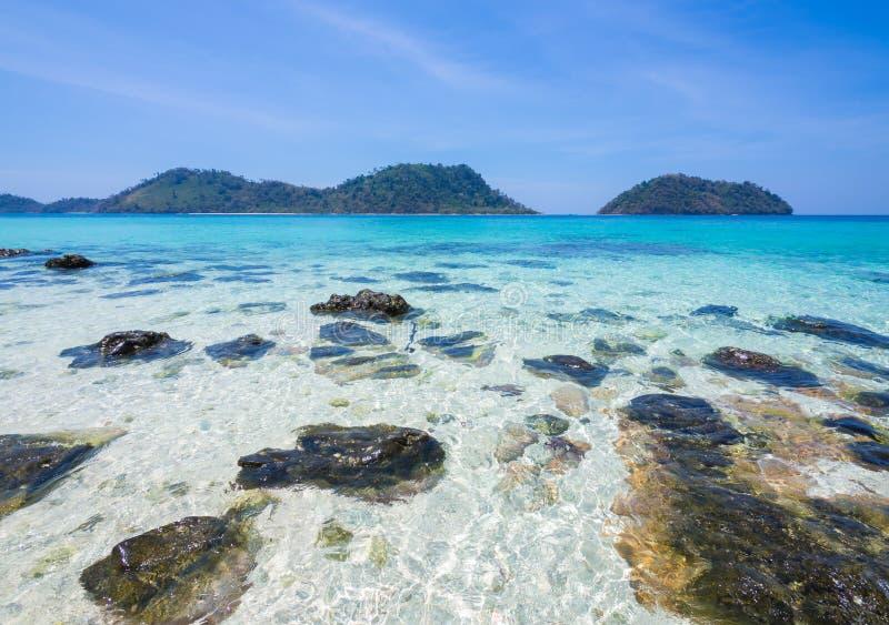 Khai di Ko, Satun: bella spiaggia in Tailandia, fotografia stock
