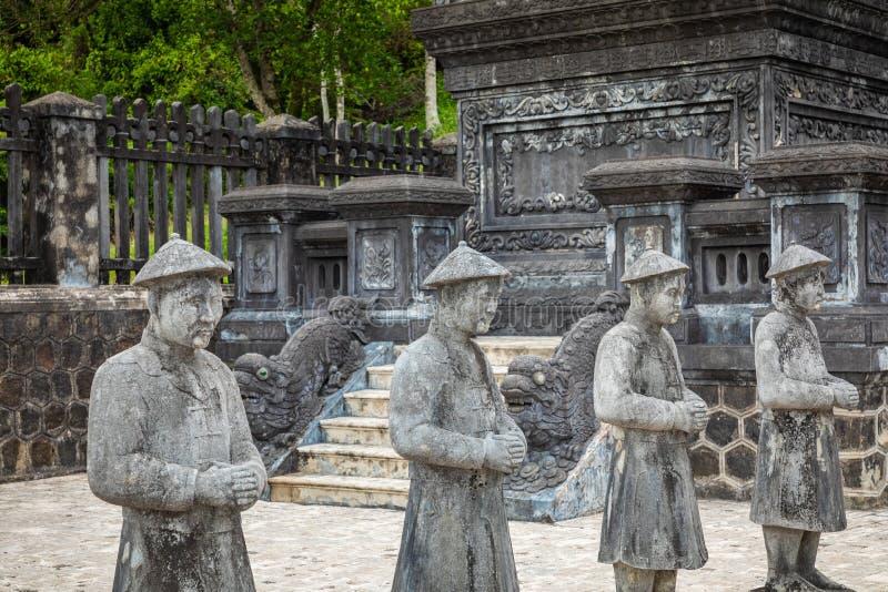 Khai Dinh Tomb imperial en tonalidad, Vietnam Un patrimonio mundial de la UNESCO fotografía de archivo