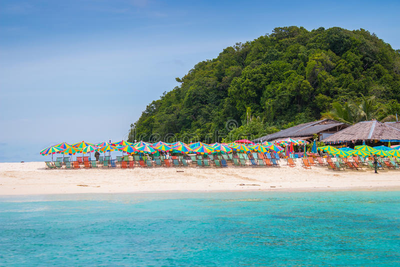 Khainui-Strand in Phuket stockfoto