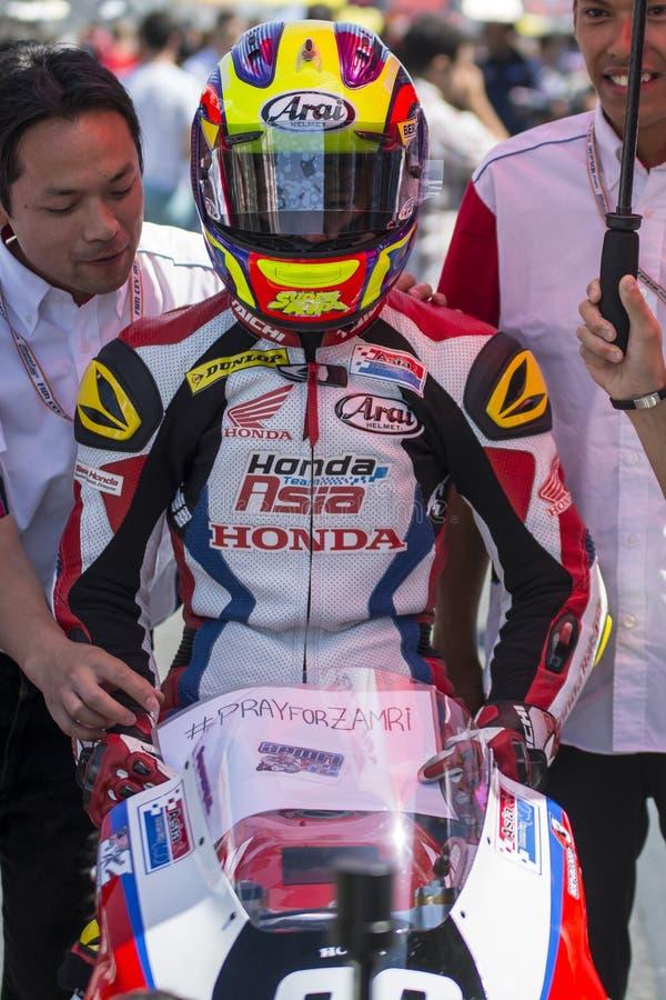 Khairul Idham Moto3 Equipo de Honda Asia fotos de archivo libres de regalías