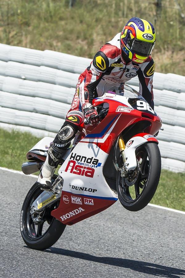 Khairul Idham Moto3 Honda Team Asia stock afbeelding