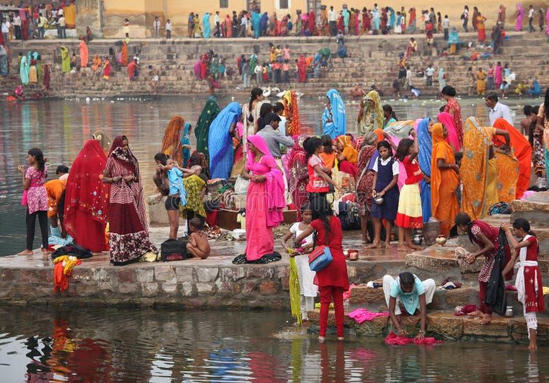 KHAJURAHO - 8 NOVEMBER: Hindoes royalty-vrije stock fotografie