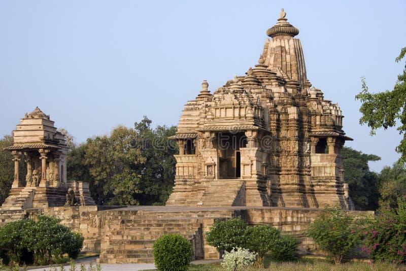 Khajuraho - de Tempel van Kandariya Mahadev - India stock afbeelding