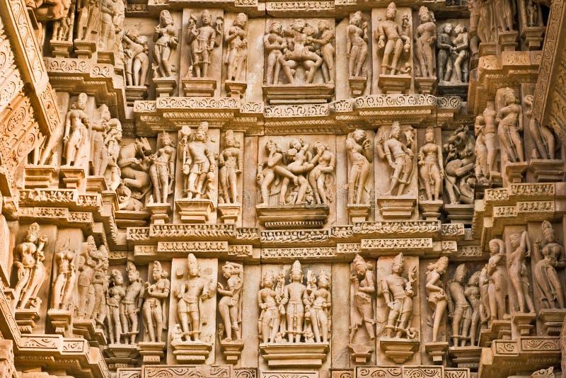 Khajuraho, la India. imagen de archivo libre de regalías