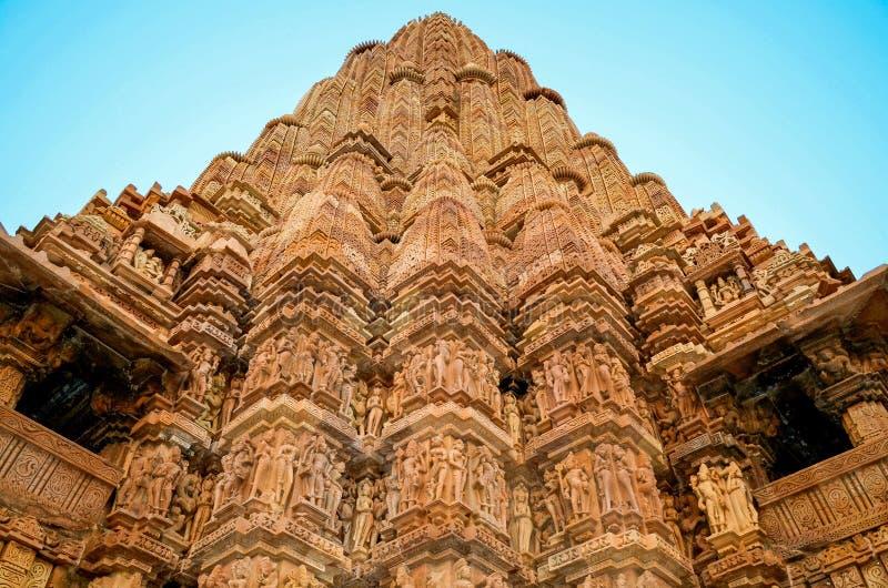 Khajuraho-Tempel, Rajasthan, Indien lizenzfreies stockfoto
