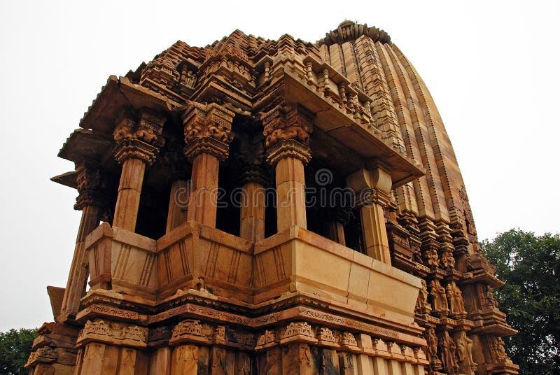 Khajuraho Temple in India stock photos