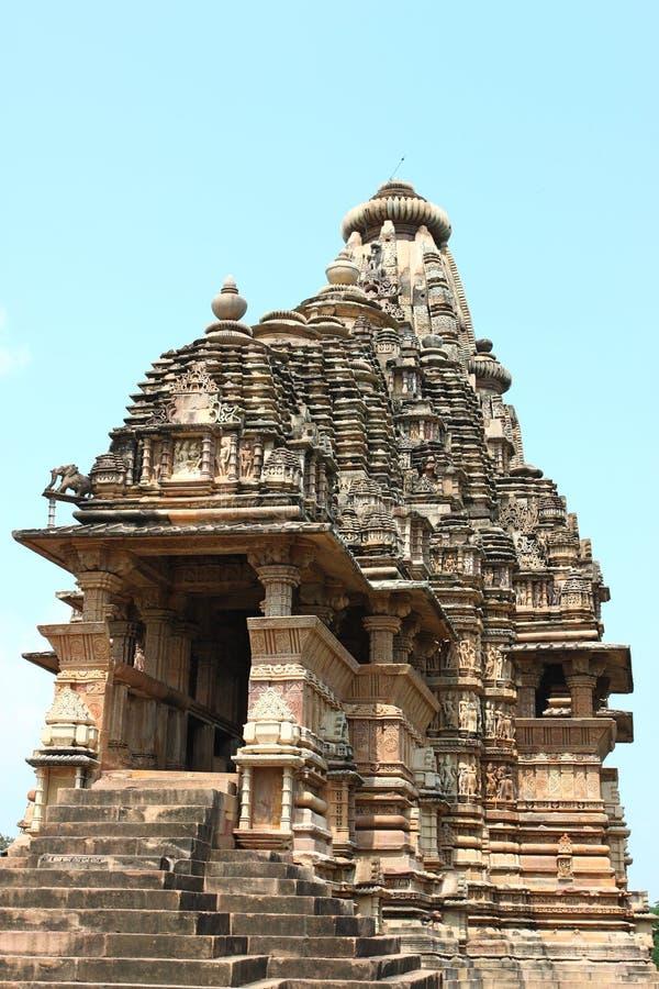 Khajuraho temples and their erotic sculptures, India. Khajuraho, India has manyl Hindu temples, famous for their erotic sculptures royalty free stock photos