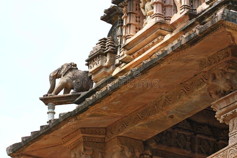 Khajuraho temples and their erotic sculptures, India. Khajuraho, India has manyl Hindu temples, famous for their erotic sculptures royalty free stock photography