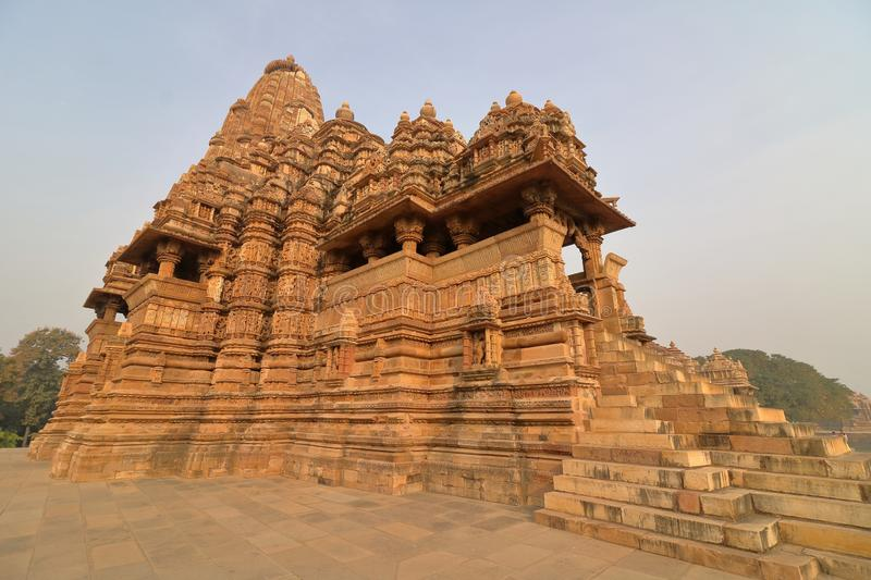 Temple of khajurahos, western group of temple. royalty free stock images