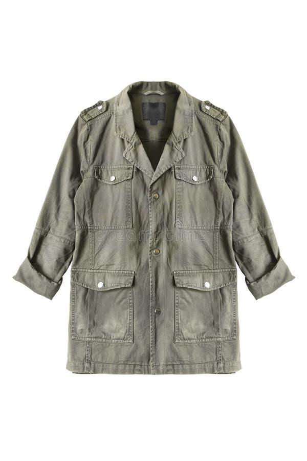 Khaka kurtka odizolowywająca zdjęcia royalty free