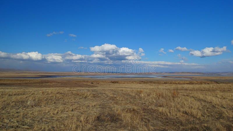Khakassia Τοπία άνοιξη στοκ εικόνες