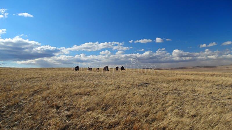 Khakassia. Spring landscapes. stock photo