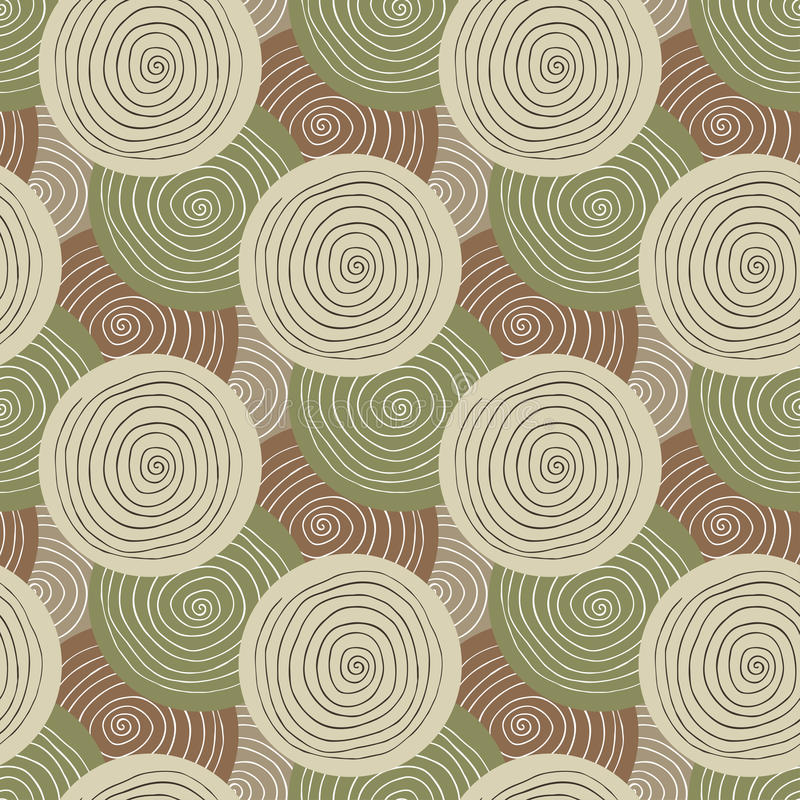 Khaki fabric texture. Fashion military seamless pattern. Textile design. Ethnic background with circles stock images