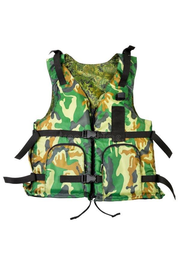 Khaki life vest stock images