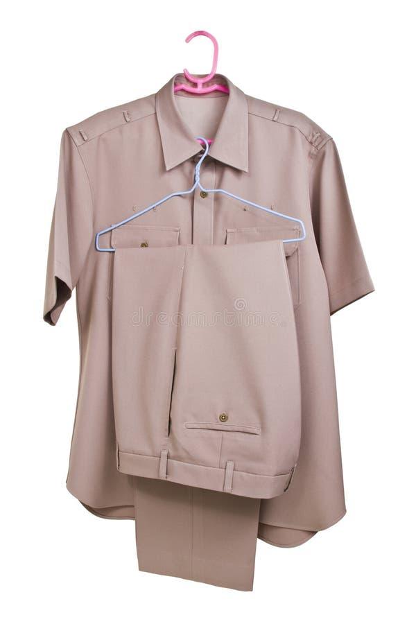 Download Khaki Shirt Uniform  On White Background Stock Illustration - Image: 31318709