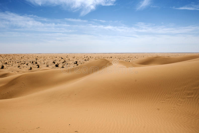 Khali dunaire d'Al de bande de frottement de désert de l'Oman de modèle extérieur de sable vieux photographie stock libre de droits
