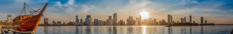 Khalid Lake a Sharjah fotografia stock