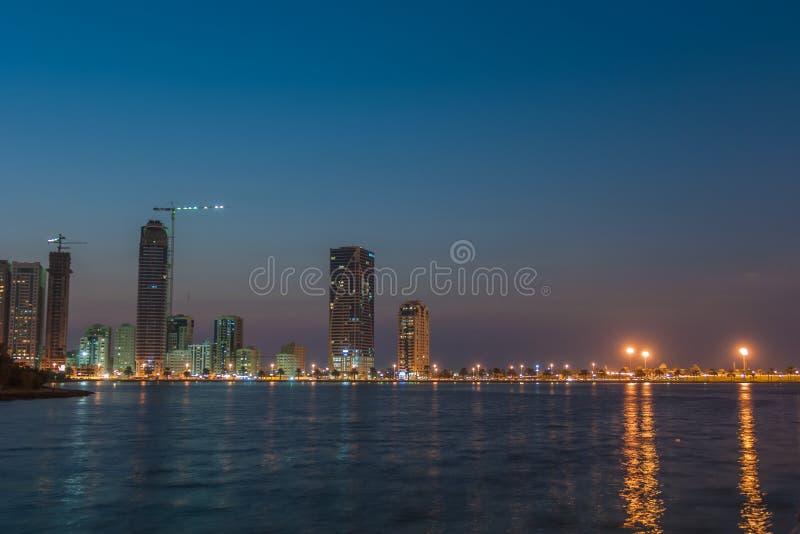 Khalid Lake a Sharjah fotografie stock libere da diritti